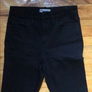 Madewell Sz 27 Black ripped knee jeans